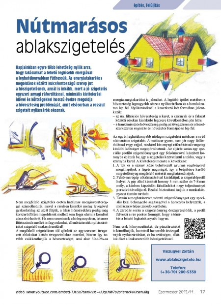 Nútmarásos ablakszigetelés (Ezermester 2013-1