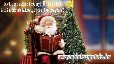 Kellemes karácsonyi ünnepeket kíván az ablakszigetelo.hu csapata.