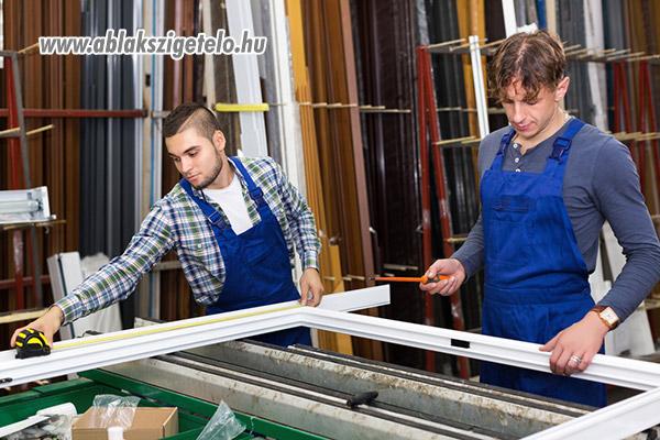 Műanyag ablak összeszerelése